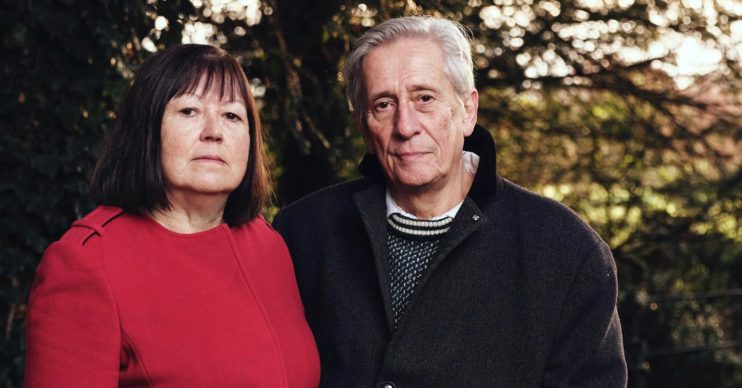 Ian Farquhar (brother of murder victim Peter Farquhar) and his wife Sue.