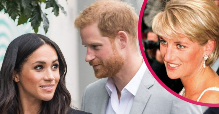 meghan markle and prince harry princess diana
