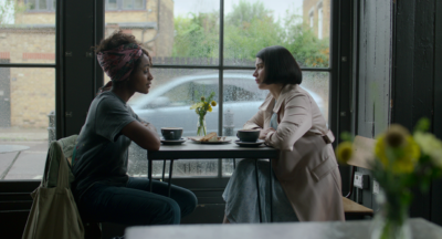 Simona's character Louise befriends the wife of her lover (Credit: Netflix)