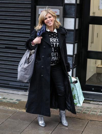 Kate garraway arrives for work