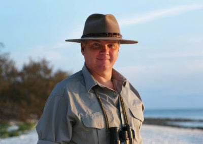 Ray Mears travels the Australian Outback in his ITV show (Credit: ITV)