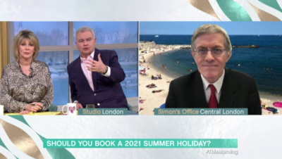Simon Calder on This Morning says Brits should book holidays this year