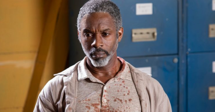 Wil Johnson as Emmet Peterson in Death in Paradise (Credit: BBC One)