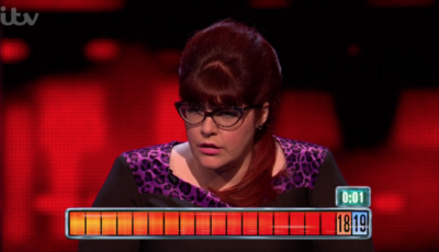 Jenny Ryan was defeated on The Chase with a second to go