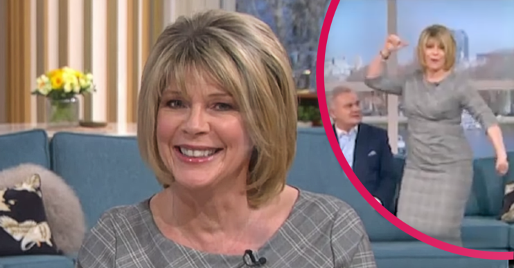 Ruth Langsford dances on This Morning