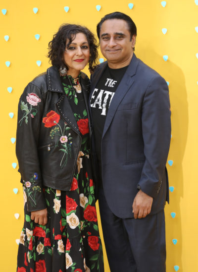 Sanjeev Bhaskar and his wife Meera Syal