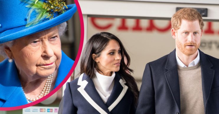 Prince Harry and Meghan The Queen