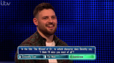 Joel won £71k on The Chase in the head-to-head