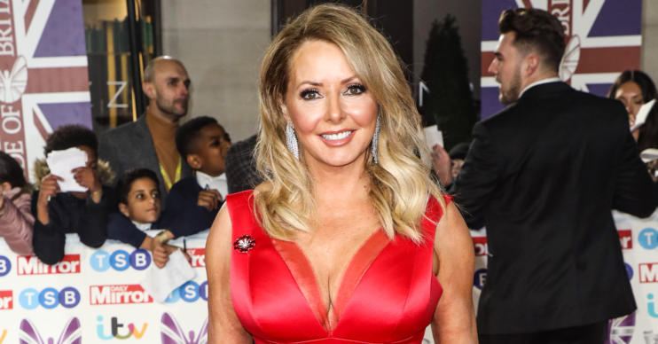 red carpet shot of carol vorderman