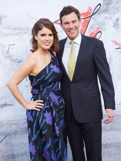eugenie and jack on the red carpet