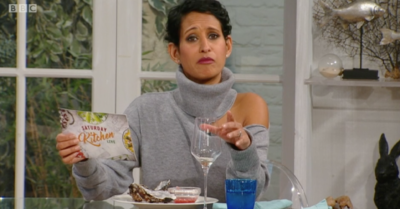 Naga Munchetty annoyed viewers when she appeared on Saturday Kitchen