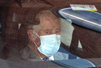 prince Charles visiting prince Philip in hospital