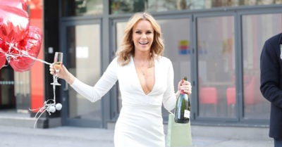 Amanda Holden Celebrates Her 50th Birthday Early At The Global Studios