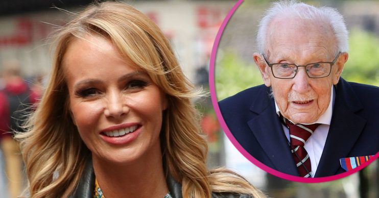 Amanda Holden and Captain Sir Tom Moore