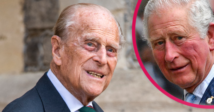Prince Charles made his first public appearance since visiting his father Prince Philip in hospital at the weekend