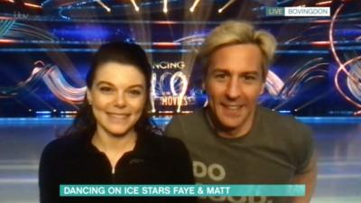 faye and matt on dancing on ice