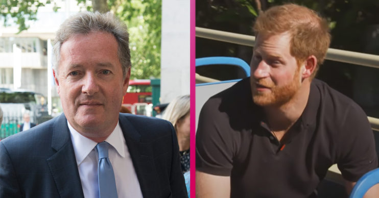 Piers Morgan and Prince Harry - James Corden interview