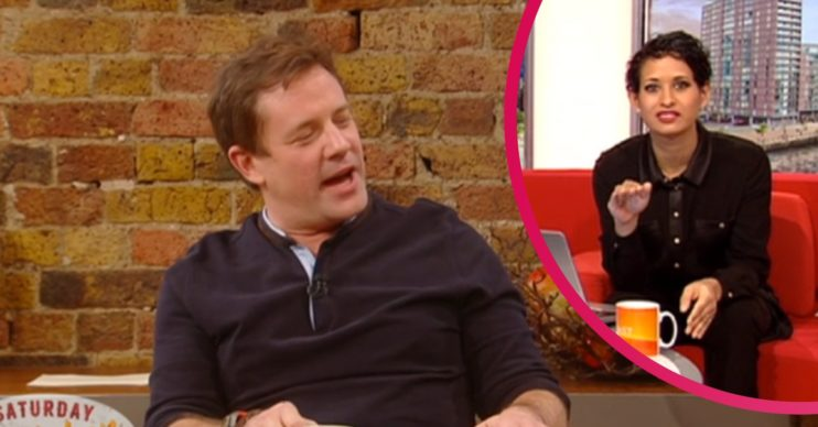 Naga Munchetty and Saturday Kitchen host Matt Tebbutt