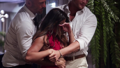 Cyrell and Martha had a wine fight on Married At First Sight Australia