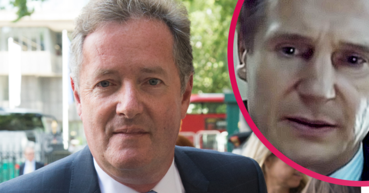 Piers Morgan likened himself to Liam Neeson's character in Taken when it comes to finding the person who issued his family death threats