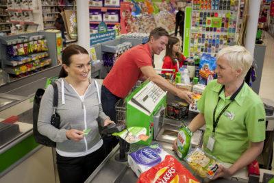 people shopping in asda pre covid