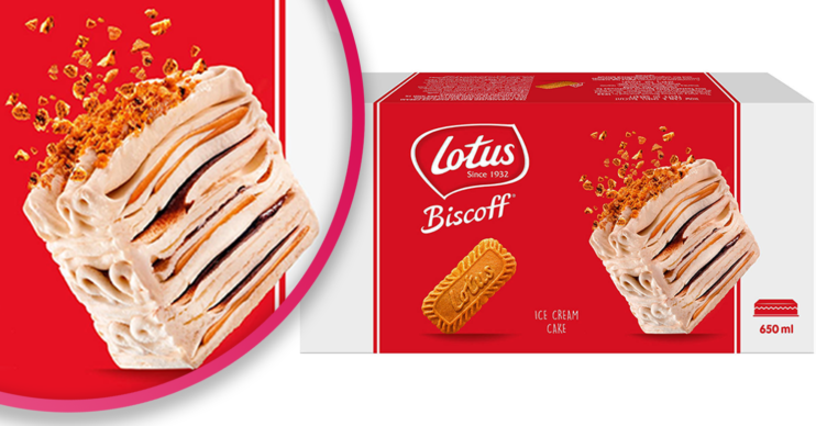 new biscoff ice cream cake