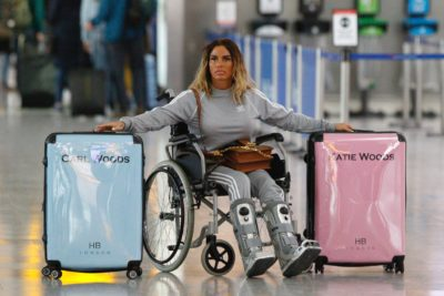 Katie price at the airport