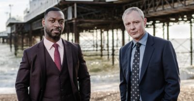 John Simm as DS Roy Grace and Richie Campbell as DS Branson