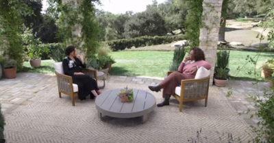 Meghan Markle in the Oprah interview