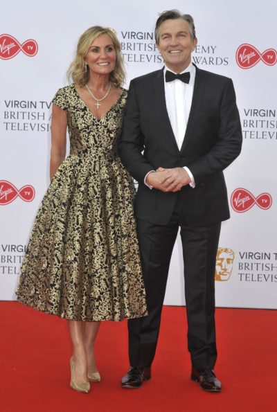 The chase host Bradley WAlsh and wife