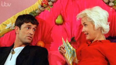 Rupert Everett and Paula Yates