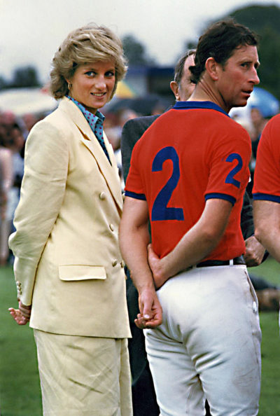 Charles and Diana at the polo