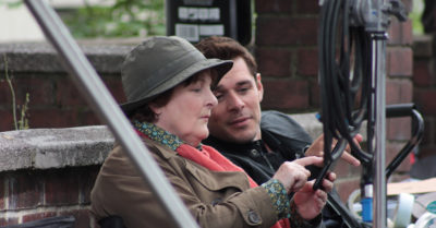 kenny doughty on set with brenda