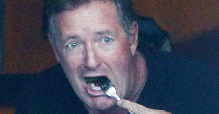 Piers Morgan eating [Shutterstock]