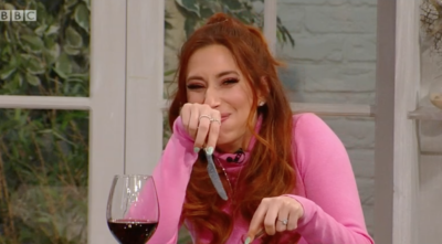 Viewers defended Stacey Solomon's eating etiquette on Saturday Kitchen