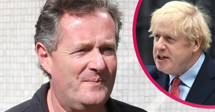 boris johnson and piers morgan