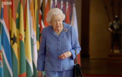 The Queen wore the brooch as the royal family celebrated Commonwealth Day
