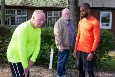Les Dennis stars in Moving On on BBC One