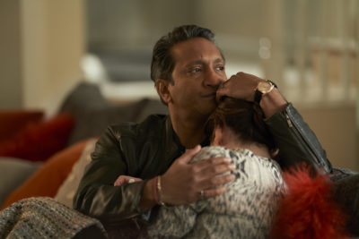 Ram consoles his partner after they discover her unborn baby might have Down's Syndrome (Credit: ITV1)