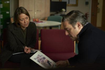 Cassie talks to Dean in Unforgotten