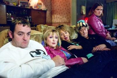 The Royle Family starred Craig Cash as Dave Best, Caroline Aherne as Denise Best, Sue Johnston as Barbara Royle, Liz Smith as (Nana) Norma Speakman and Jessica Hynes as Cheryl Carroll (Credit: BBC One)