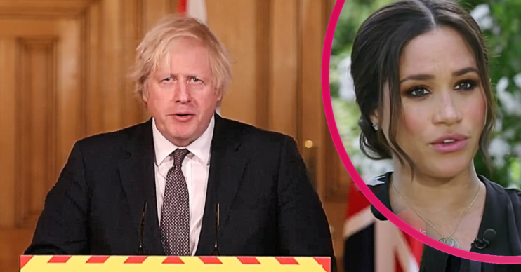 Boris Johnson broke his silence about Harry and Meghan and backed the Queen