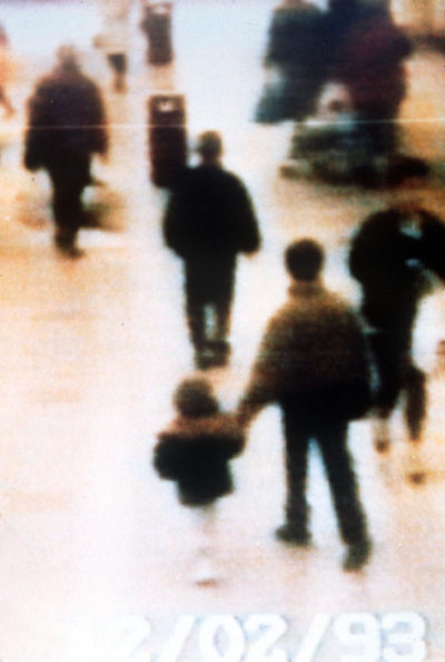 The chilling CCTV footage of James Bulger walking to his death