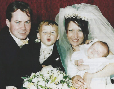 Denise married Stuart Fergus, with Michael and Tom as youngsters (Credit: Denise Bulger / ITN Productions)