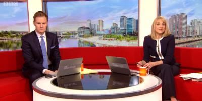 Dan Walker on BBC Breakfast