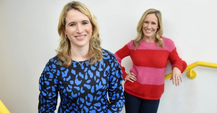 Felicity Baker and Sophie Raworth