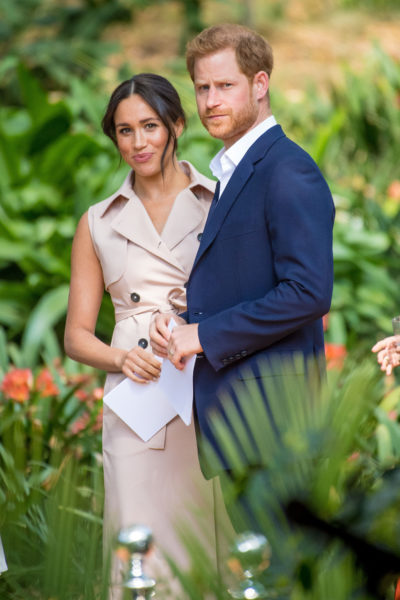 meghan and harry at an engagement
