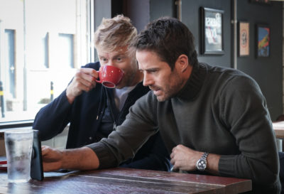 Freddie and Jamie investigate their family tree in DNA Journey (Credit: ITV)
