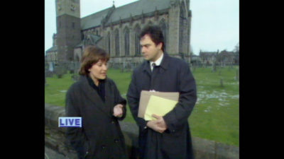 Archive footage of Lorraine Kelly and Eamonn Holmes in Dunblane