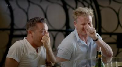 Gordon Ramsay and pal Gino D'Acampo have a chuckle